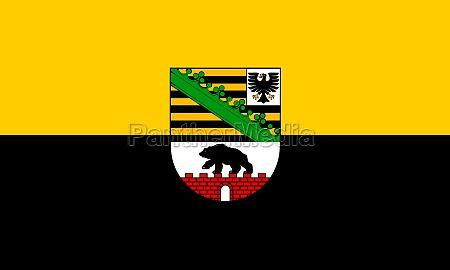 flagge von sachsen anhalt deutschland