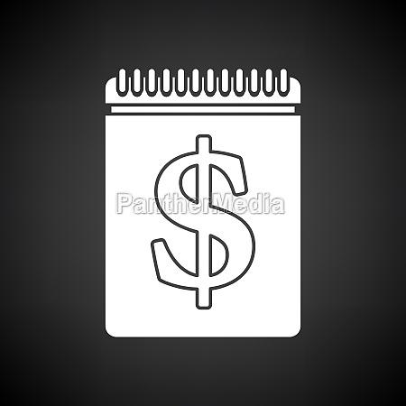 dollar kalender symbol