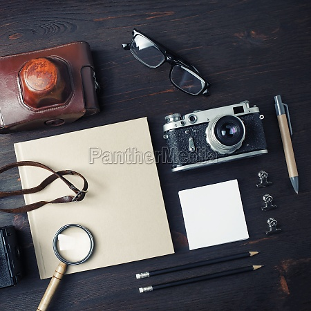 vintage reise artikel leere briefpapier und
