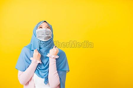 frau tragen schleier hijab tragen schuetzende