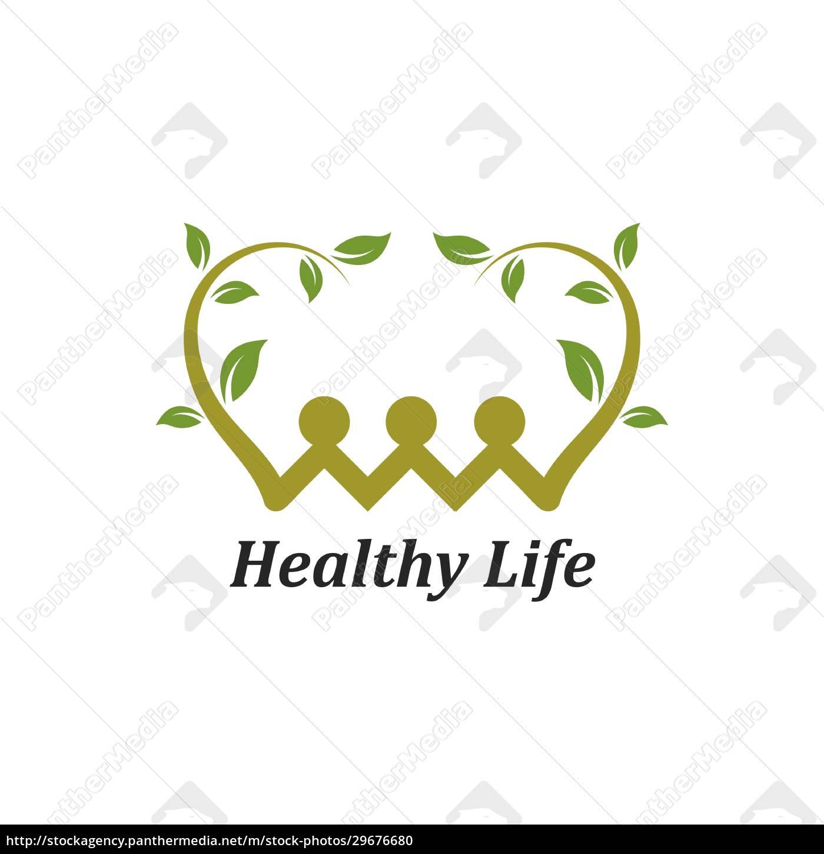 healthy, life, menschen, logo-vorlage, vektor - 29676680