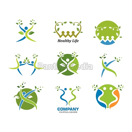 healthy, life, menschen, logo-vorlage, vektor - 29676710