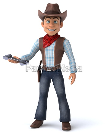 fun, cowboy, -, 3d, illustration - 29680835