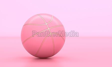 rosa basketball mit goldenen einsaetzen auf