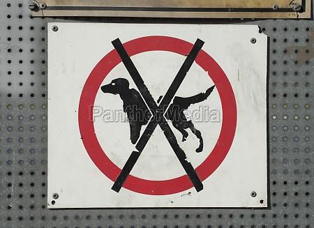 kein hunde zeichen