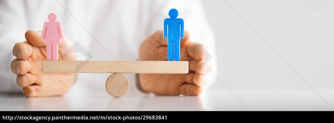 gleiches, geschlecht, seesaw, balance - 29683841