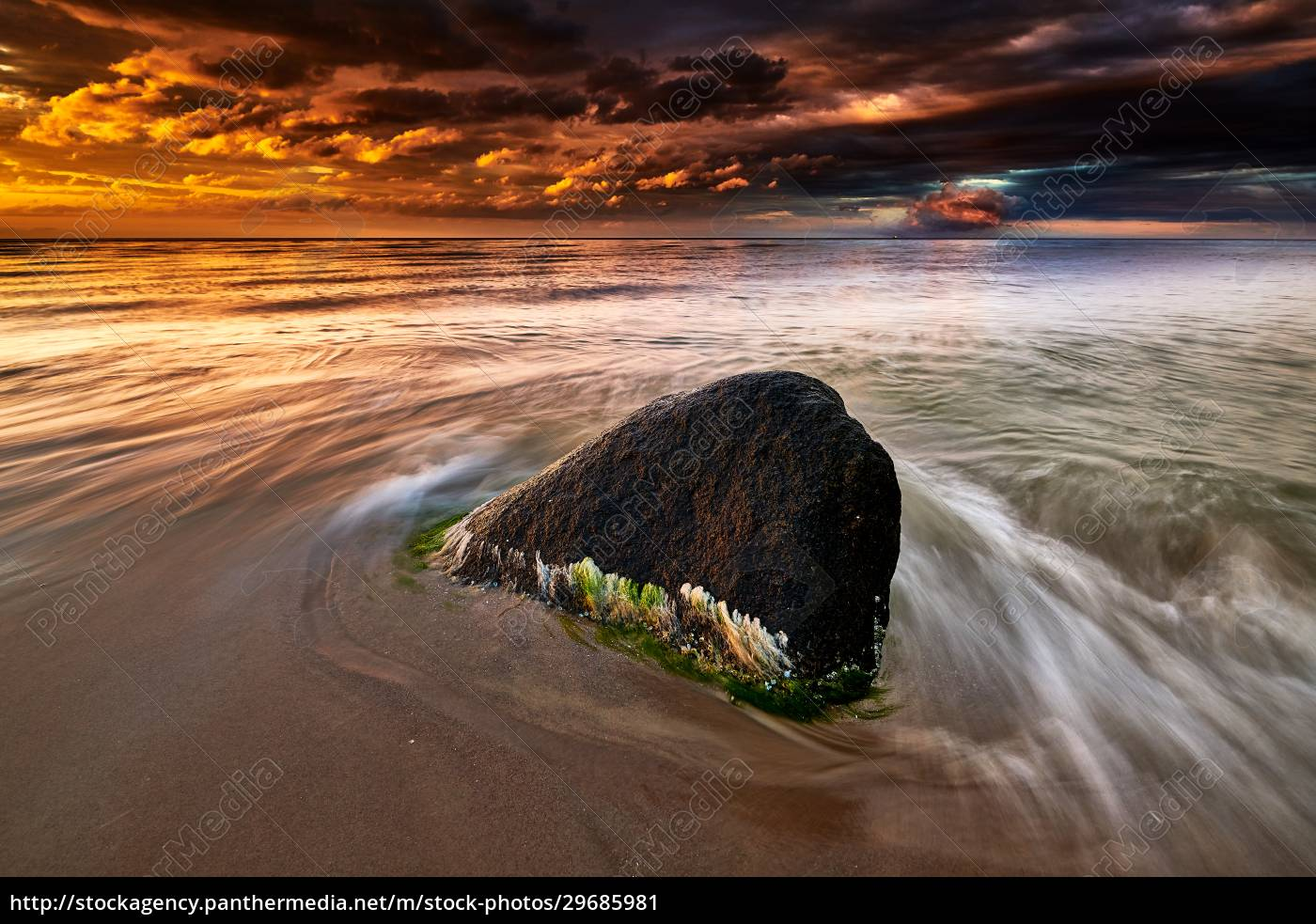 rocky, baltic, seascape, in, the, evening - 29685981