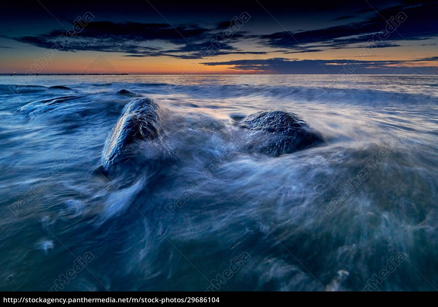 rocky, baltic, seascape, in, the, evening - 29686104