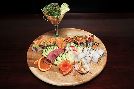 japanische sushi rolle