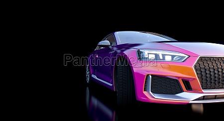 detail eines luxurioesen und sportlichen autos