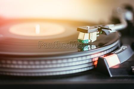 wiedergabe von retro musik professionelle drehbare