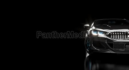 luxurioese und stilvolle moderne schwarze auto