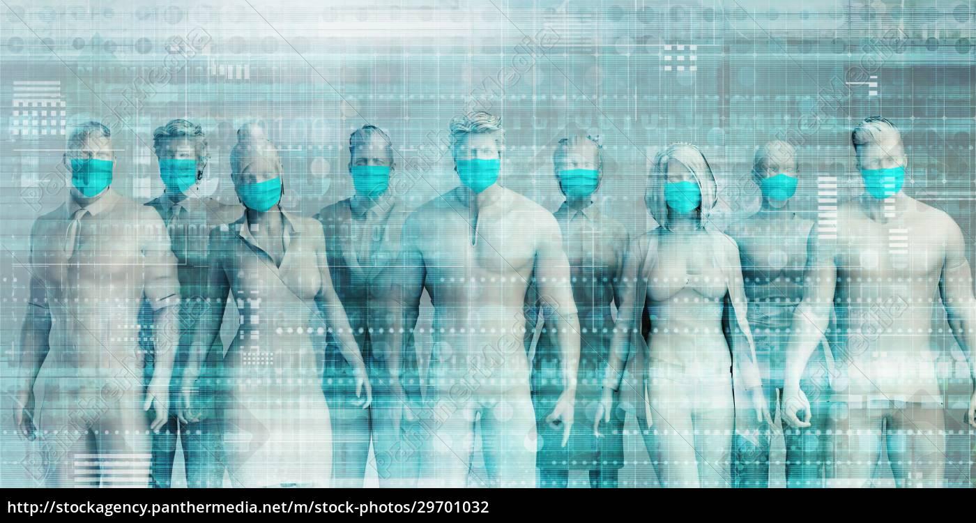 business, people, wearing, medical, masks - 29701032