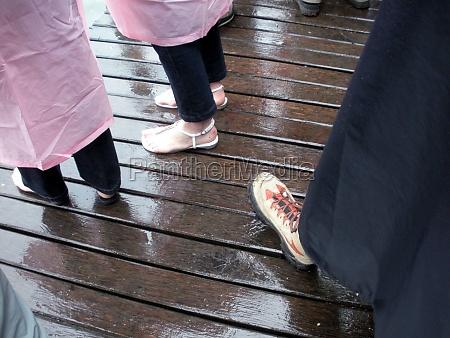 tragen von kleidung wirksam gegen regen