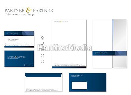 corporate design stationaere moderne vector set