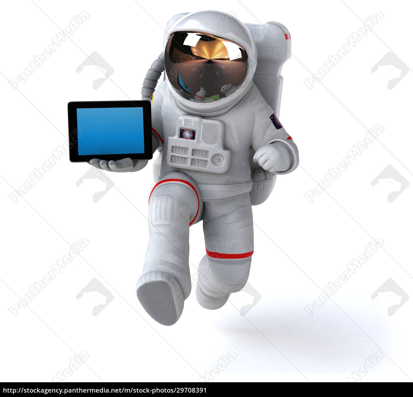 fun, astronaut, -, 3d, illustration - 29708391