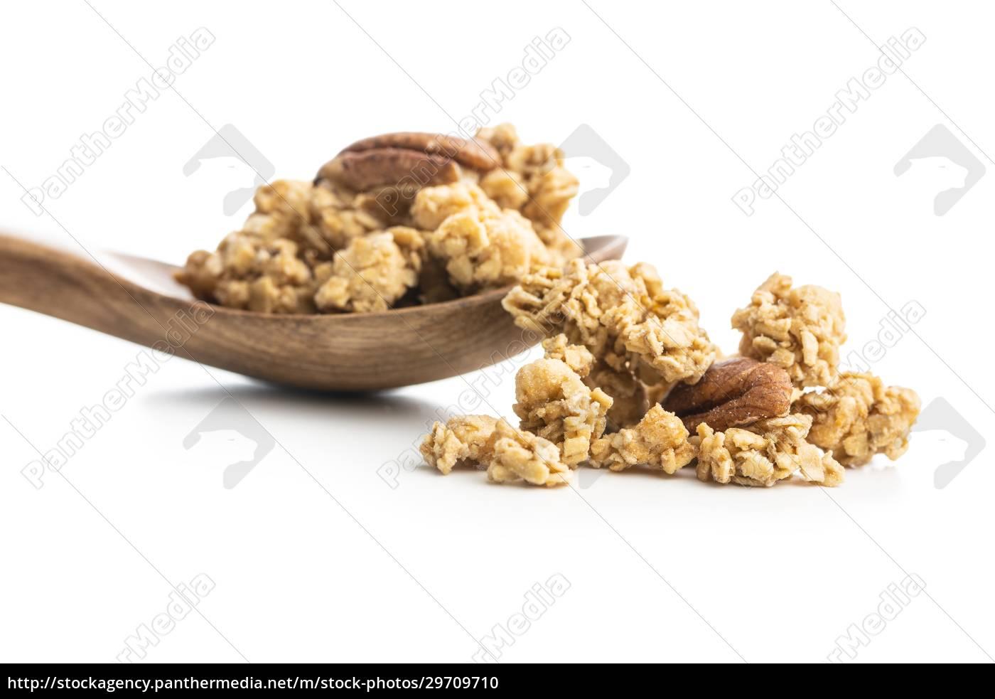 frühstücksflocken., morgen, granola. - 29709710