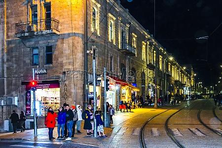 jerusalem city nacht szene