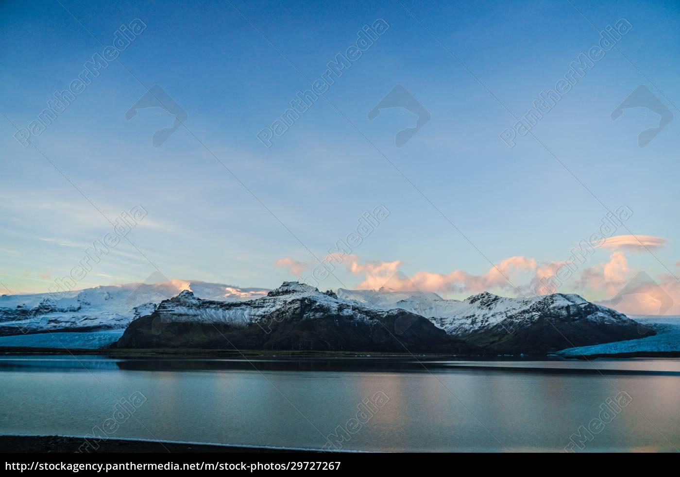 iceland, fjallsárlón, lake, snow, mountain, of - 29727267