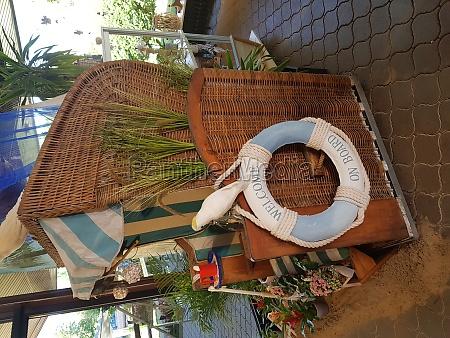 wicket beach chair mit rettungsring