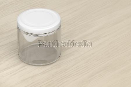 glas leer glas muetze lebensmittel konserven