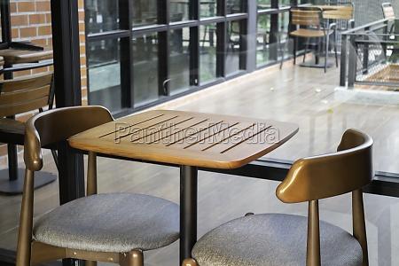 modernes cafe design interieur stockfoto