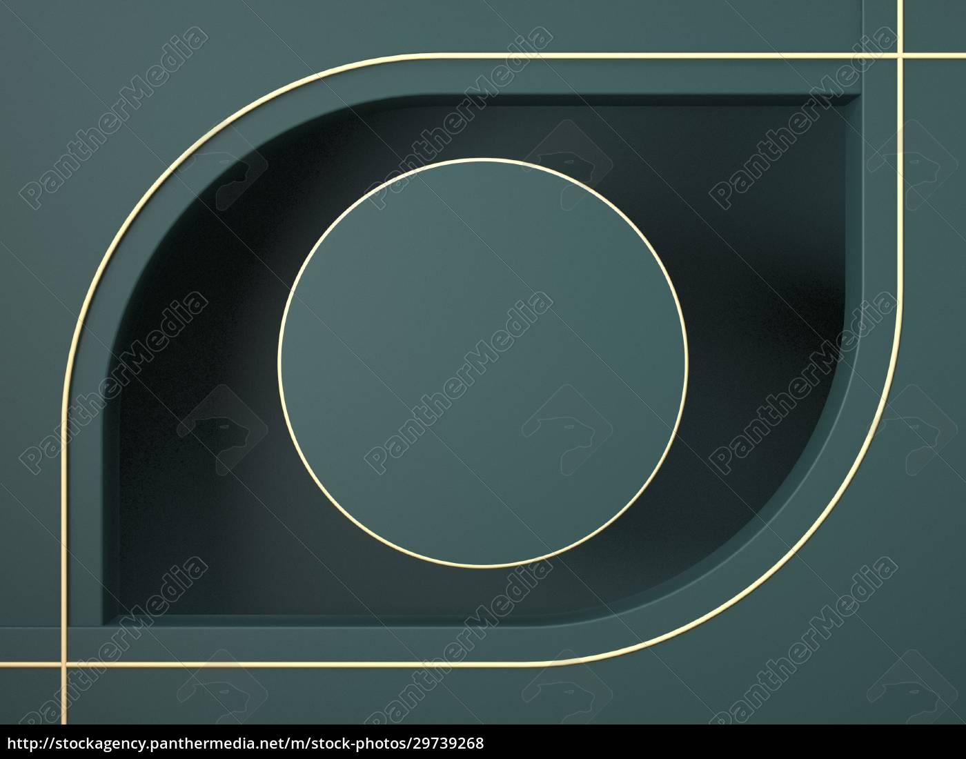 mock-up-kreis, mit, goldenen, umrissen, für, produktpräsentation - 29739268