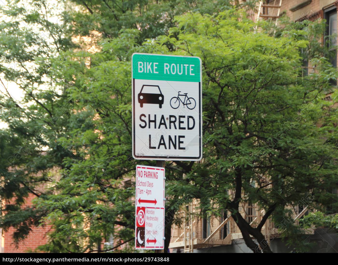shared, lane, traffic, sign, in, new - 29743848