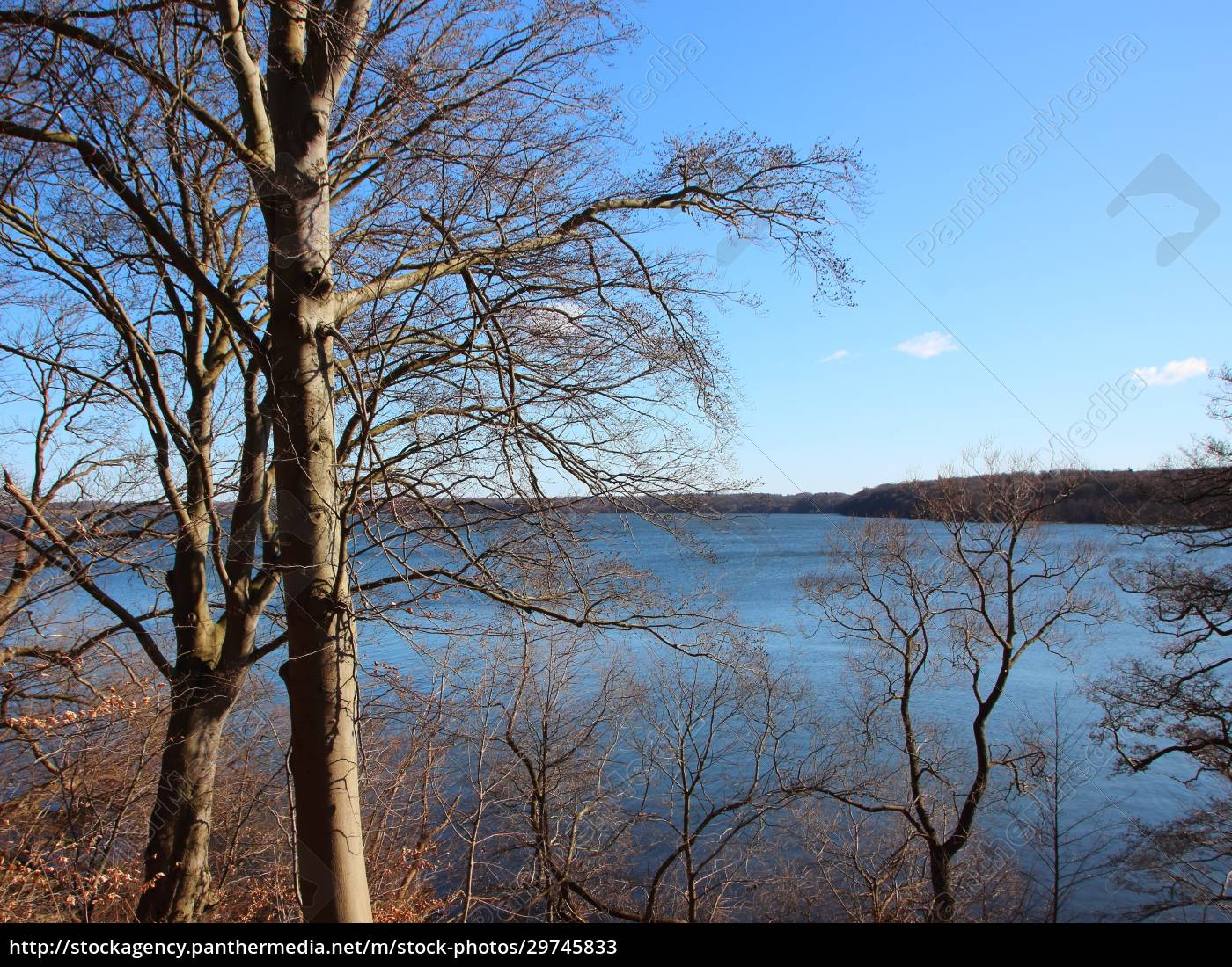 autumn, view, over, blue, lake, with - 29745833