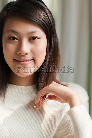 erwachsene frau asia asian smile mutter