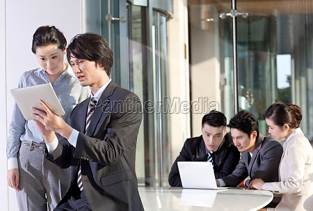 women, white-collar, workers, asian, conference, room - 29756415