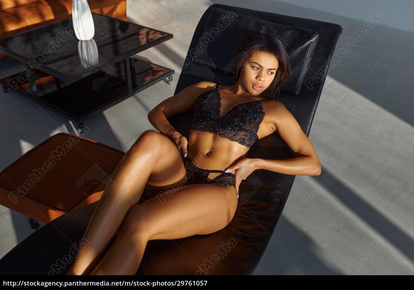 brunette, in, lingerie, posing, in, leather - 29761057