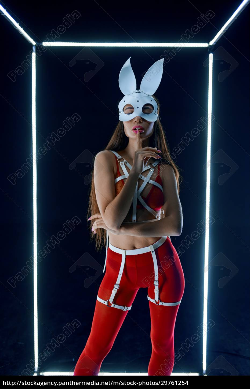 stripper, in, rabbit, mask, dancing, in - 29761254