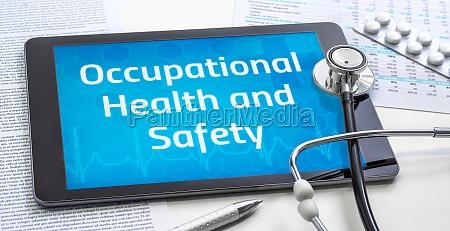 das wort arbeitsschutz und sicherheit auf