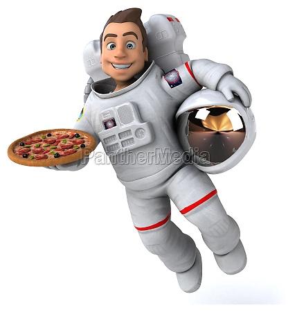 fun, astronaut, -, 3d, illustration - 29765233