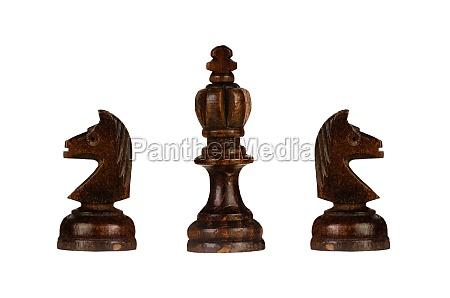 braune schachfiguren