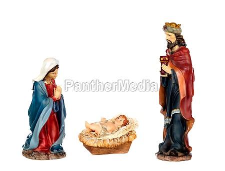 szene der krippe maria jesuskind und