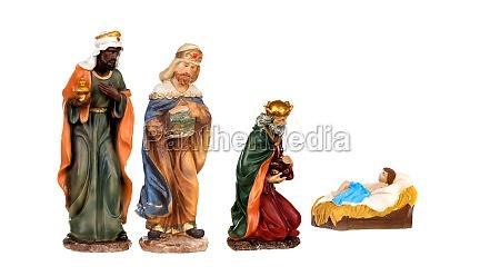 drei weise koenige und baby jesus
