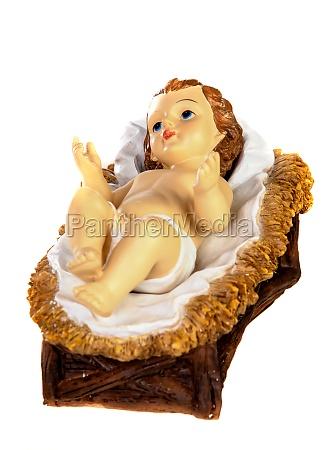 baby jesus weihnachten rustikal