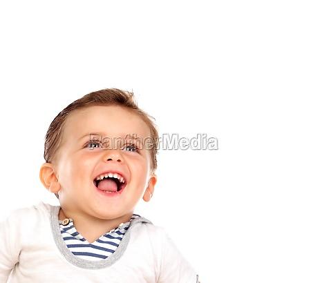 schoenes kleines kind mit einem schoenen