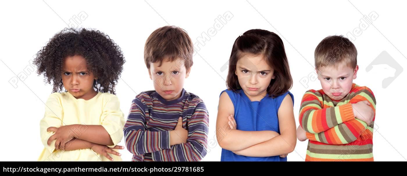 viele, wütende, kinder - 29781685