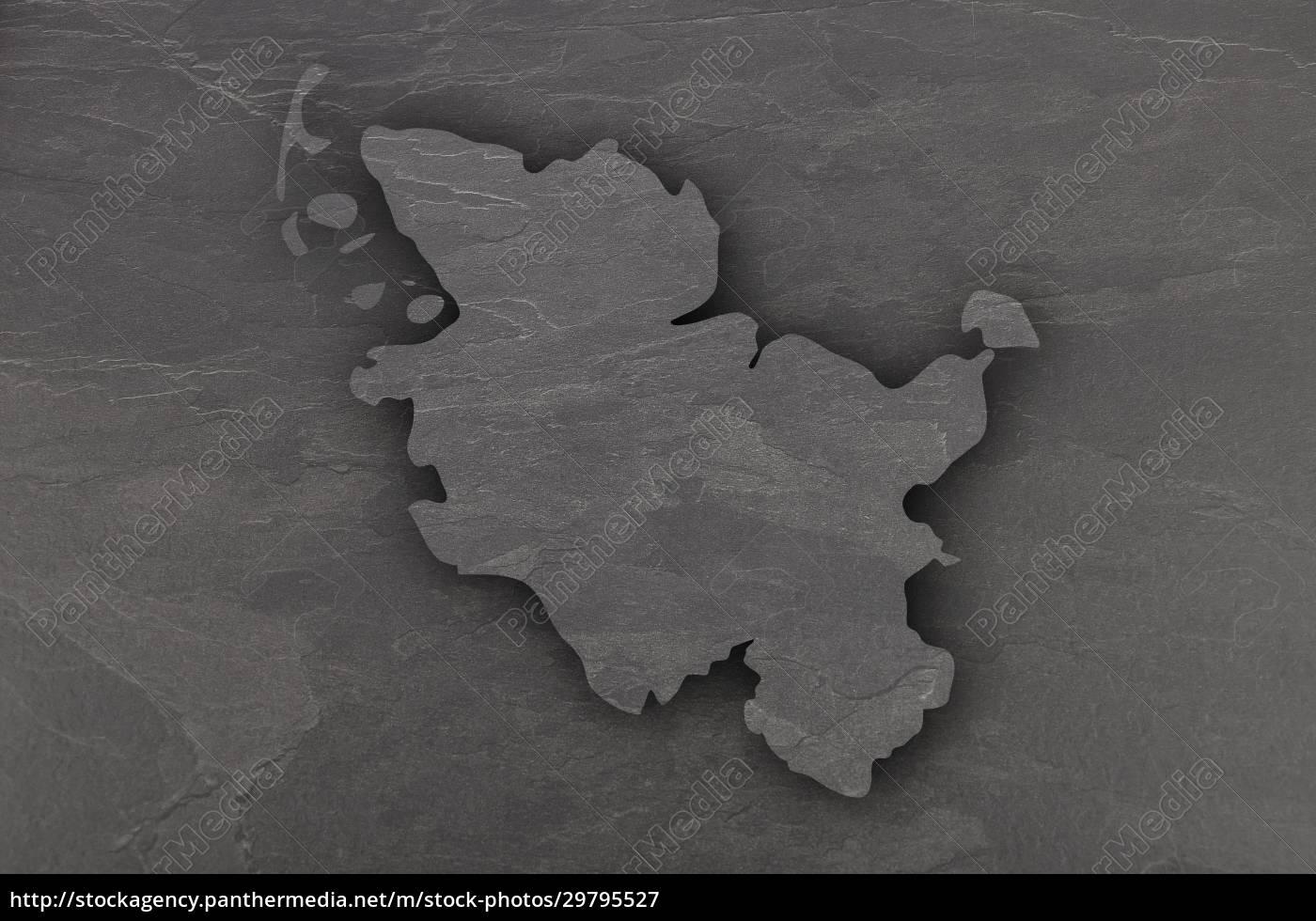 map, of, schleswig-holstein, on, dark, slate - 29795527