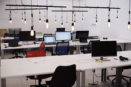 buero coworking leer startup unternehmen computer