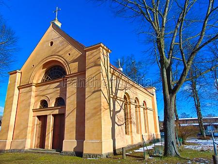 die evangelische schinkelkirche in der uckermark