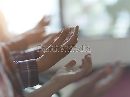 muslim, people, praying, in, mosque, closeup - 29810951