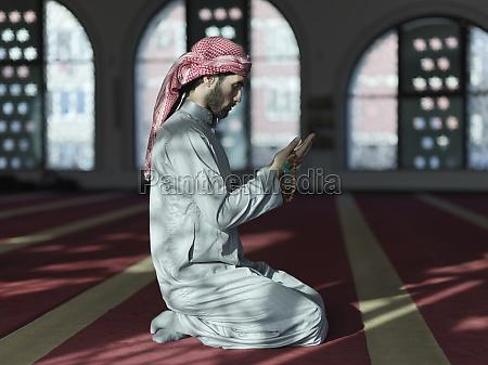 muslimisches, gebet, in, der, moschee - 29811029