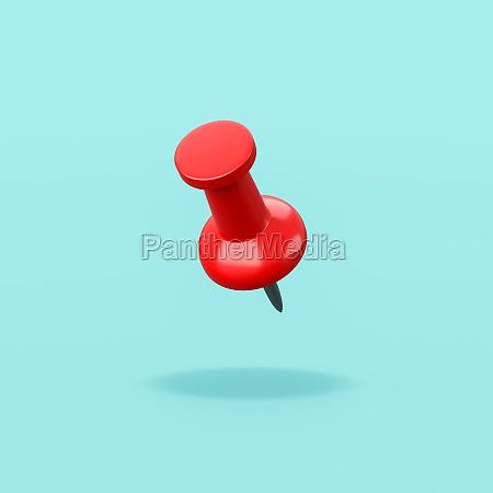 roter pin auf blauem hintergrund