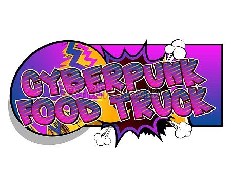 cyberpunk food truck comic buch
