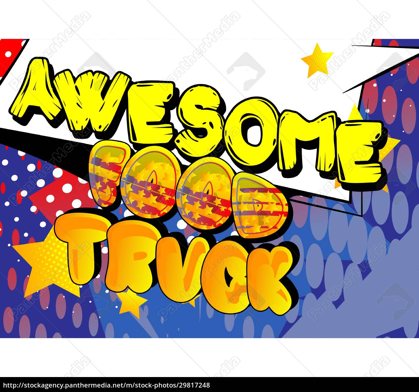 awesome, food, truck, -, comic-buch-stil-text. - 29817248