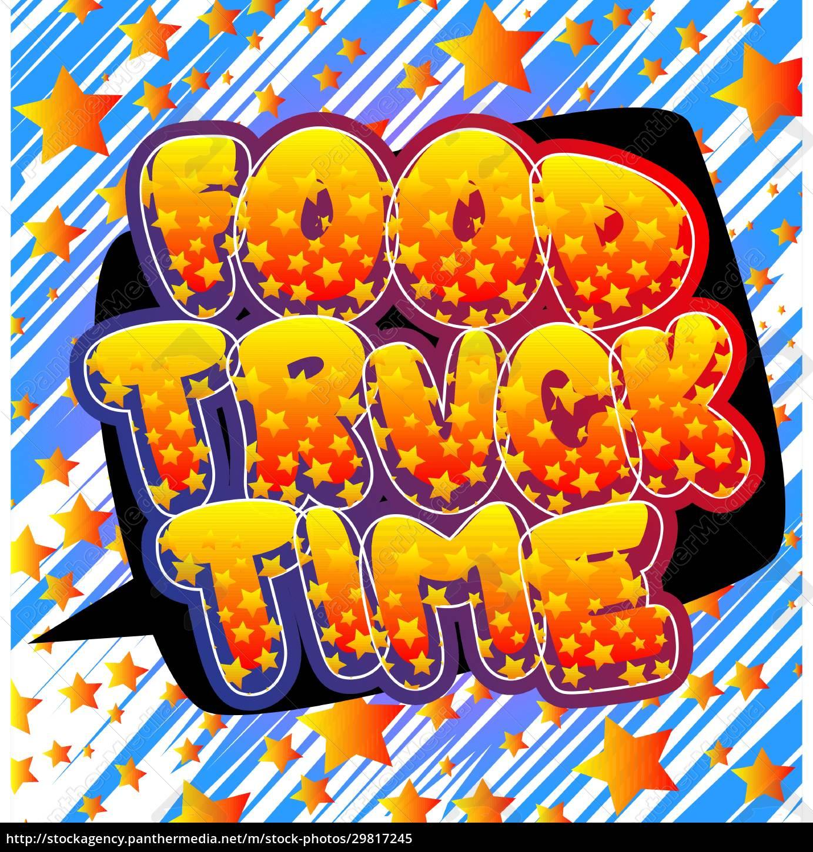 food, truck, zeit, -, comic-buch-stil-text. - 29817245